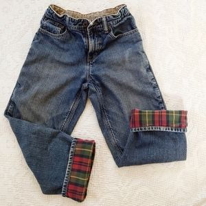 🌲Flannel Lined L.L. Bean Boys Jean Size 12 👖
